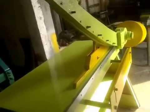 Guillotina cizalla manual guillotine youtube for Cizalla manual para metal