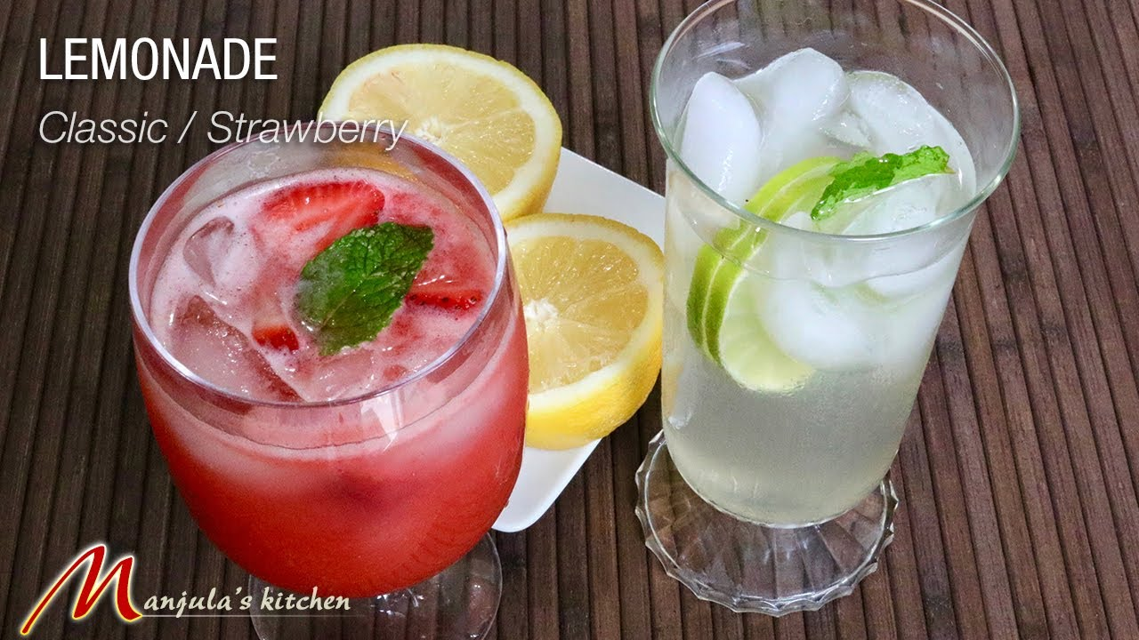 Classic Lemonade / Strawberry Lemonade recipe by Manjula