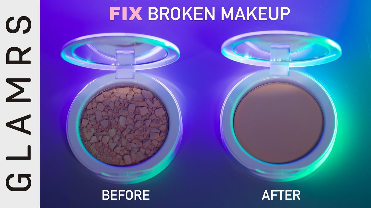 How to fix broken powder makeup with alcohol in four simple steps - Diy How To Fix Broken Compact Powder Makeup In Easy Steps Makeup Hacks