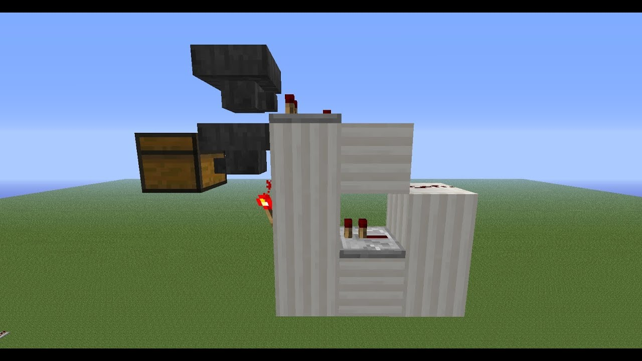 Minecraft hopper trading system