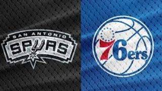 San Antonio Spurs vs Philadelphia 76ers live stream   nba live    play by play reaction
