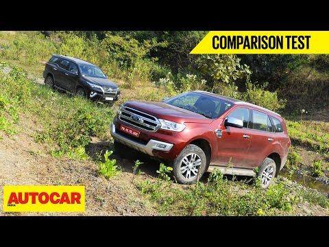 Toyota Fortuner VS Ford Endeavour | Comparison Test | Autocar India