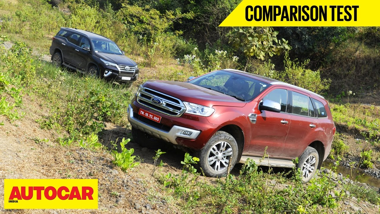 toyota fortuner  ford endeavour comparison video