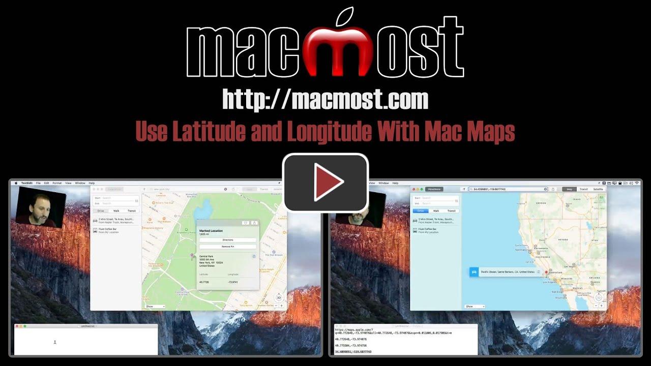 Use Latitude And Longitude With Mac Maps  MacMost - Map using latitude and longitude to find a place