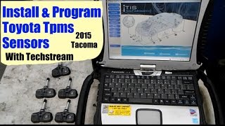Installing & Programming Toyota Tpms Sensors with techstream