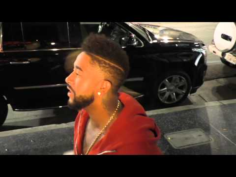 Omarion Grandberry talks about musicians beefing with eachother as he leaves Katsuya Restaurant in H