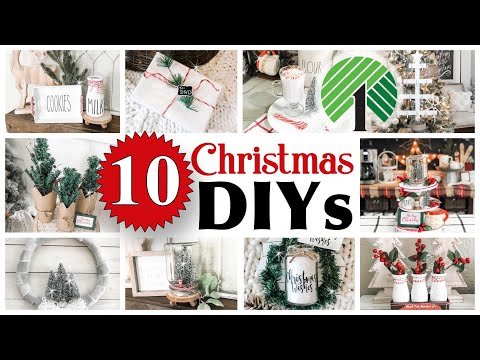 10 CHRISTMAS Dollar Tree DIYs | DIY Dollar Tree Home Decor
