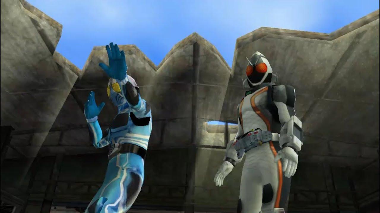 Aqua Mod Kamen Rider Chou Climax Heroes PSP - YouTube