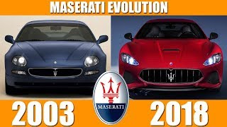 THE FAMILY OF MASERATI EVOLUTION FROM 2003-2018