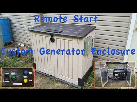 DIY Generator Enclosure Shed With Remote Start
