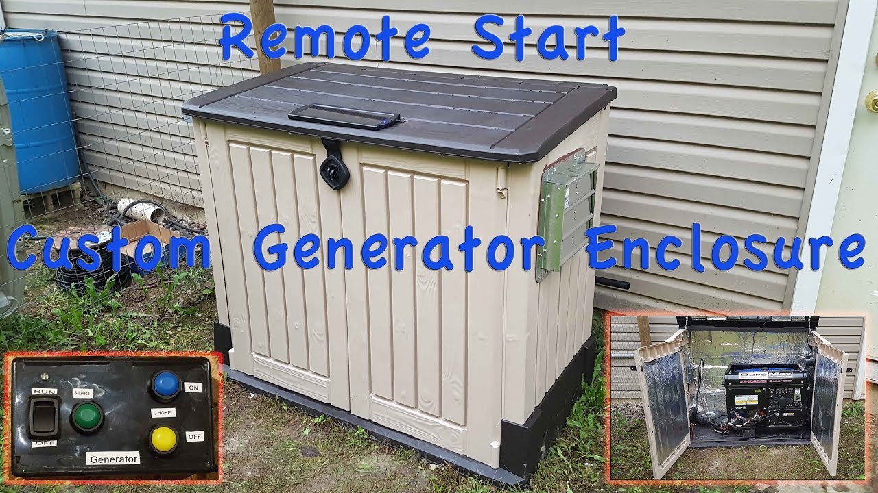 Diy Generator Enclosure Shed With Remote Start
