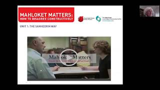 Mahloket Matters: How to Disagree Constructively: Training webinar for school teachers