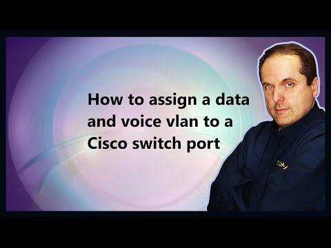 How to assign a data and voice vlan to a Cisco switch port