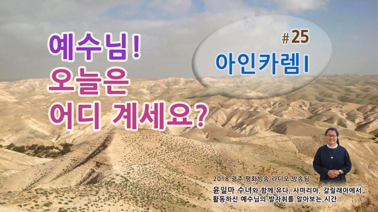 [성경 지명]윤일마수녀와 함께 하는 예수님 오늘은 어디계세요? #24. 아인카렘 I