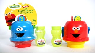 Sesame Street No-Spill Mini Bubble Buckets from Little Kids, Inc.