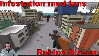 Fredags stream med fans - Infestation - Roblox stream
