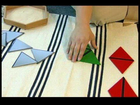 Montessori Visual Activities : Small Hexagon Box Montessori Material