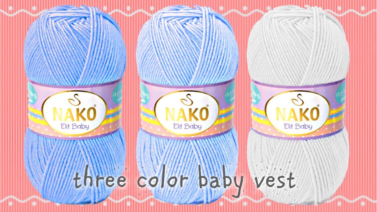 3 Renk bebek yelek örgü modeli (Komple) #örgümodelleri #bebekörgüleri