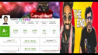 Carryminati  YOUTUBE VS TIK TOK: THE END | Youtube Analytics/ Subscriber Growth | Earning