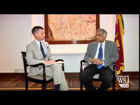 Ranil Wickremesinghe interview on Wall Street Journal‎