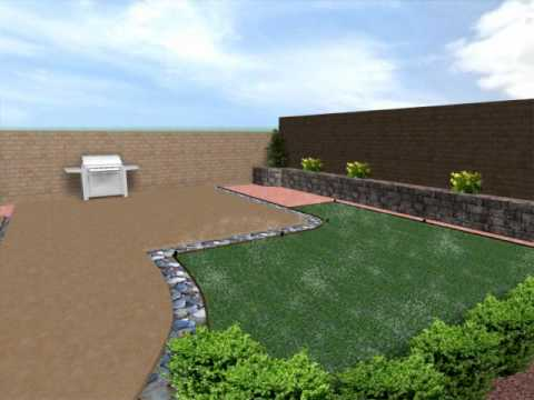 Superior Las Vegas Landscaping And Design 3 D Design Of Las Vegas Backyard