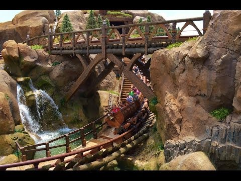 HD POV Seven Dwarfs Mine Train Roller Coaster Front Seat at Magic Kingdom Opening Day