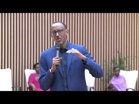 President Kagame speaks at Kwinegura- African Union Summit  Kigali, 22 July 2016