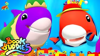 Baby Shark Holiday Song | Christmas Carols | Xmas Songs For Kids | Merry Christmas with Boom Buddies