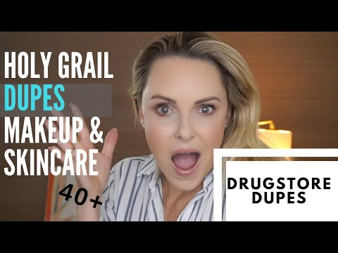 MY HOLY GRAIL MAKEUP & SKINCARE DUPES, AFFORDABLE & DRUGSTORE 🍁|| thumbnail