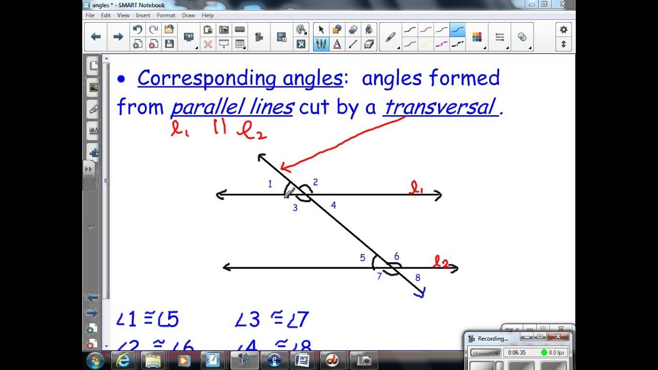 Angle Pairs 8th Grade Math
