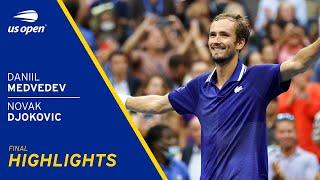 Daniil Medvedev vs Novak Djokovic Highlights