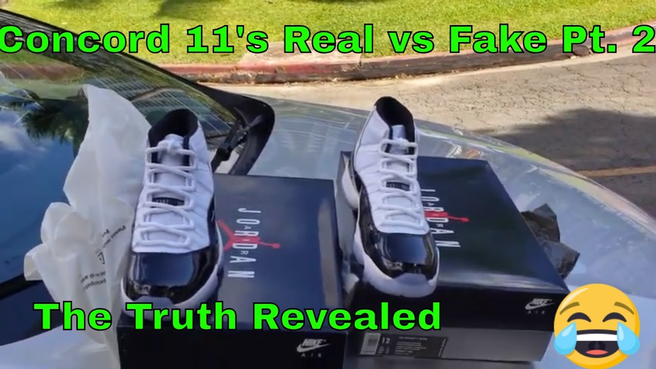 ddc64761346b Jordan 11 Concords real versus fake part 2 truth revealed - YouTube