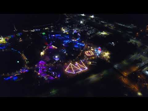 Floriade Nightfest 2017 Canberra by drone 4K