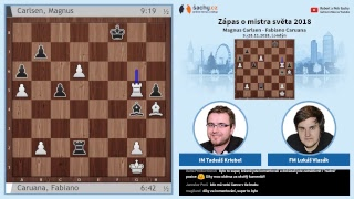 FIDE 2018 World Chess Championship - přímý přenos 8. partie, komentují Tadeáš Kriebel a Lukáš Vlasák