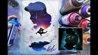 Aladdin GLOW IN DARK - SPRAY PAINT ART - by Skech