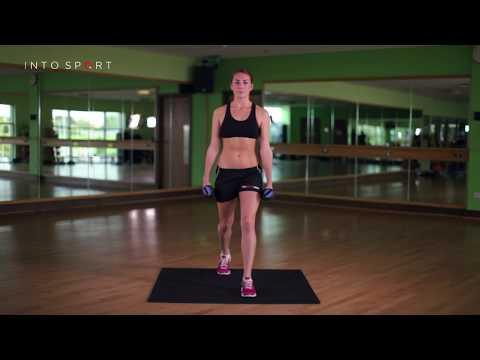 Dumbbell Split Squat - Fitness Gym Training