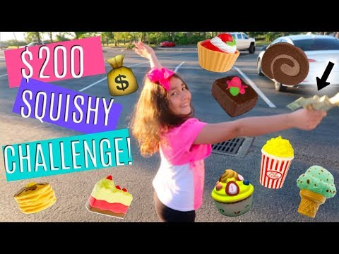 $200 SQUISHY CHALLENGE! SHOPPING FOR $200 WORTH OF SQUISHIES AT THE MALL!