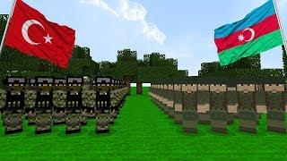 ASKER VS MİNECRAFT #20 - Türkiye Ve Azerbaycan Kardeş Oldu (Minecraft)