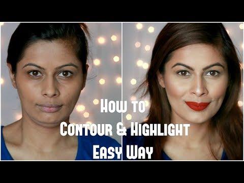 How to Contour & Highlight Easy Way   कैसे दिखाएं चेहरे को पतला   Makeup Basics   Kavya K