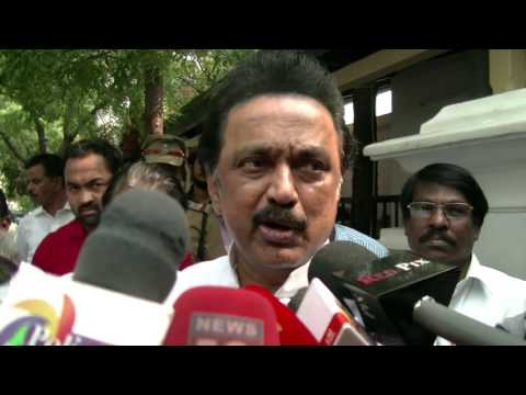 Jayalalitha House Being Looted, Why No Media Telling The News - M.K.Stalin Angry @ Media