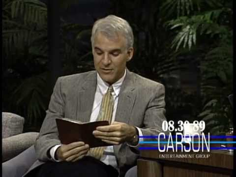 Steve Martin Reads Funny Memories from His Diary on Johnny Carson's Tonight Show — 1989