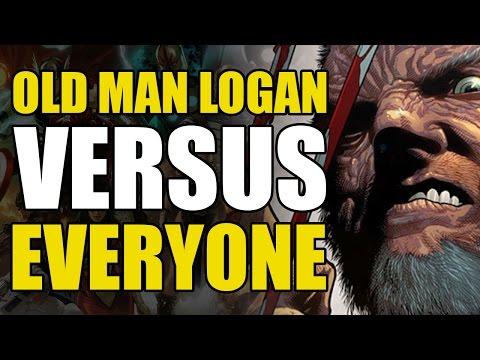 Old Man Logan vs The Hulk, Steve Rogers and Hawkeye (ANAD Old Man Logan Vol 1: Berserker)