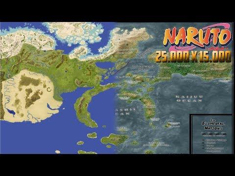 World Map Of Naruto - World Painter [25000x15000]