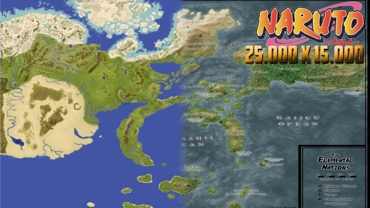 World map of Naruto - World Painter [25000x15000] - YouTube