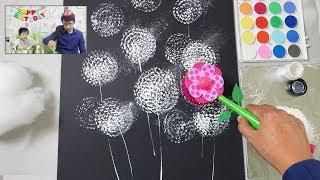Toilet Brush Painting Technique for Beginners