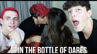 SPIN THE BOTTLE OF DARES w/ Bryce Hall & Tayler Holder | Zach Clayton