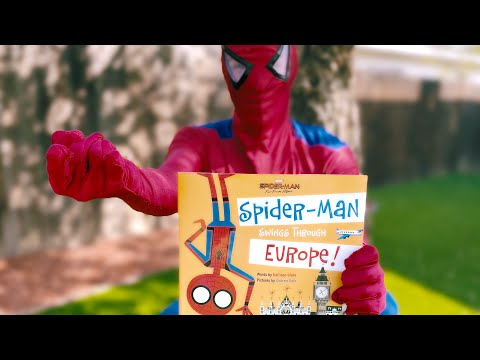 Story Time Spider-Man Reads Aloud SPIDER-MAN SWINGS THROUGH EUROPE Fun For Children & Toddlers