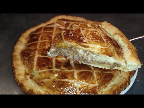 tourte-viande-hachée,-pomme-de-terre-et-sauce-béchamel-facile-et-rapide-/-minced-meat-pie