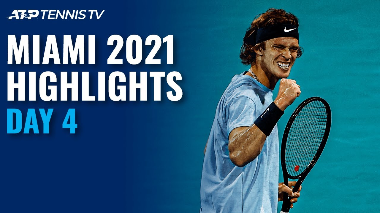 Tsitsipas, Shapovalov and Rublev all in Action | Miami 2021 Highlights Day 4