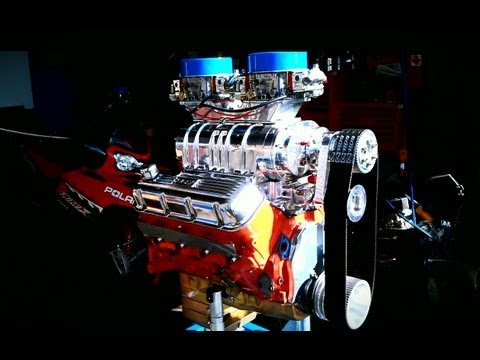 BLOWN BIG BLOCK DYNO RUN 850 HP @ 6500 RPM - 454 & BDS 8-71 Blower
